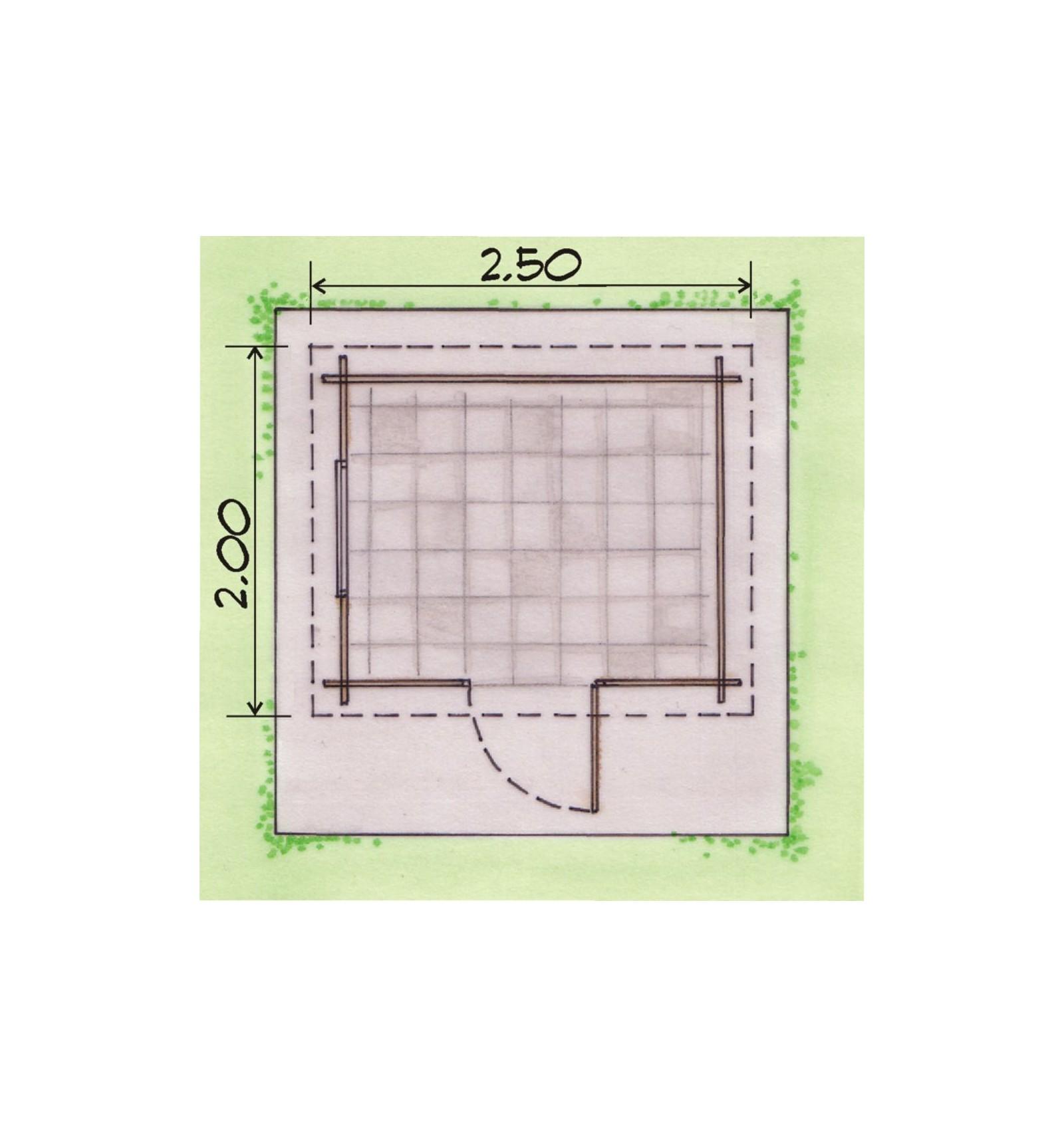 Caseta de madera de 2 50x2 00m madera garden for Ecksofa 2 50x2 00