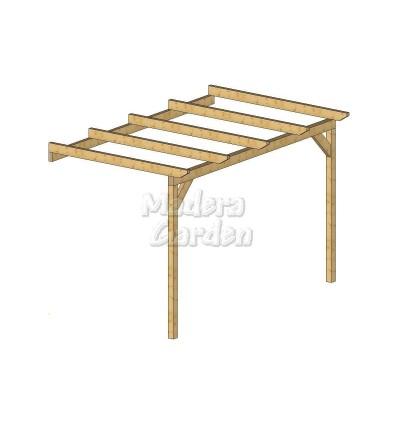 Pérgolas de madera adosadas planas
