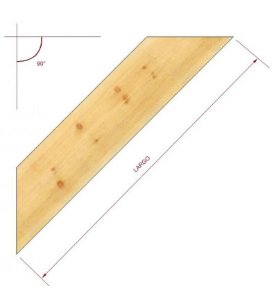 Tornapuntas de madera de 140 x 100 mm