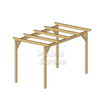 Pérgolas de madera autoportantes planas
