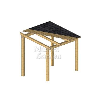 Porches de madera autoportantes