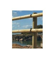 Material para Vallas de madera, postes y travesaños cilíndricos