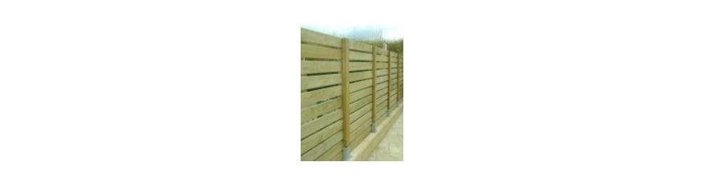 Material para Vallas de madera, postes y travesaños cuadrados