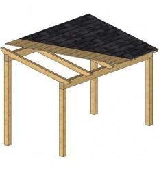 """""""KIT""""Pérgolas de madera. (Medidas predefinidas)"""