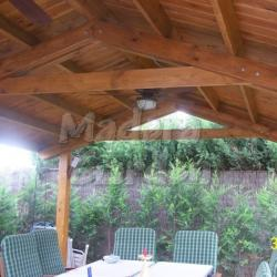 cenador de madera detalle cubierta